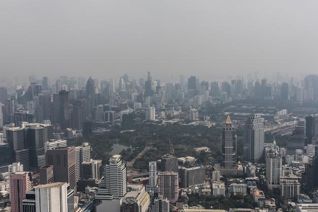 Antenowe Gród Malowniczego Bangkoku W Ciągu Dnia Z Dachu. Panoramiczna Linia Horyzontu Największe Miasto W Tajlandii. Pojęcie Metropolii. Darmowe Zdjęcia