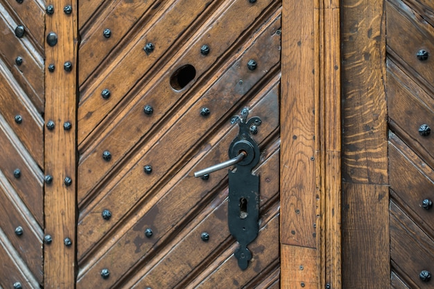 Antyczna Klamka Do Drzwi Premium Zdjęcia