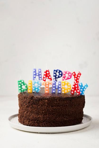 Aranżacja Tortu Urodzinowego I świec Darmowe Zdjęcia