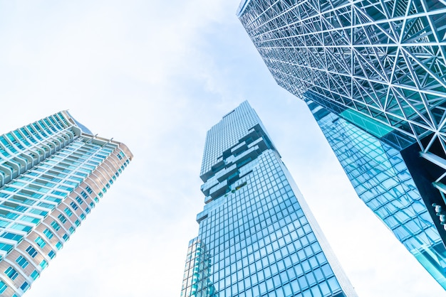 Architektura biznes budynek biurowy zewnętrzny wieżowiec Premium Zdjęcia