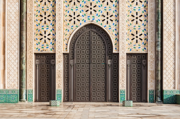 Architektura meczetu hassana Premium Zdjęcia
