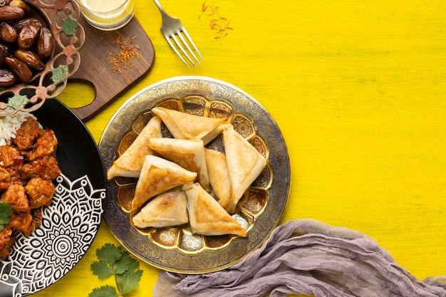 Asortyment Indyjskiej żywności Z Miejsca Na Kopię Darmowe Zdjęcia
