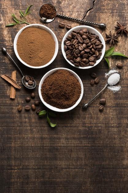 Asortyment Kawy Na Tło Premium Zdjęcia
