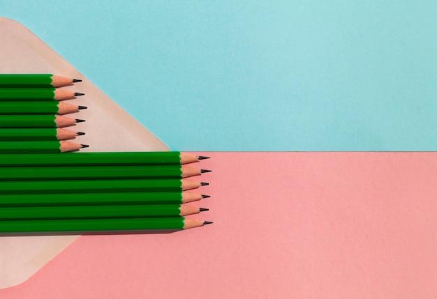 Asortyment Ołówków Z Miejscem Na Kopię Darmowe Zdjęcia