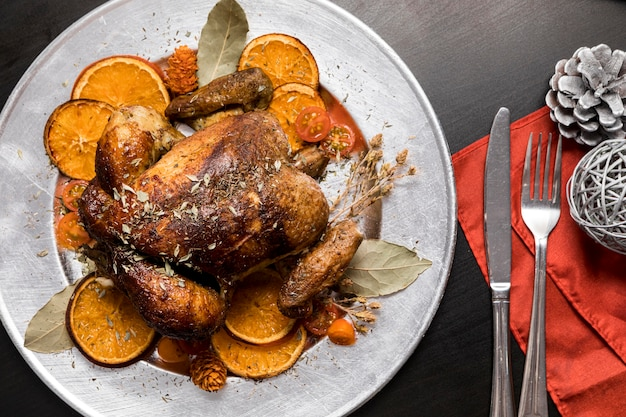 Asortyment Pysznych świątecznych Posiłków Darmowe Zdjęcia