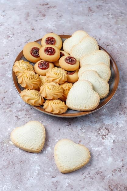 Asortyment Pysznych świeżych Ciasteczek. Darmowe Zdjęcia