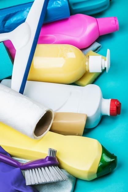 Asortyment różnych środków czyszczących do domu Premium Zdjęcia