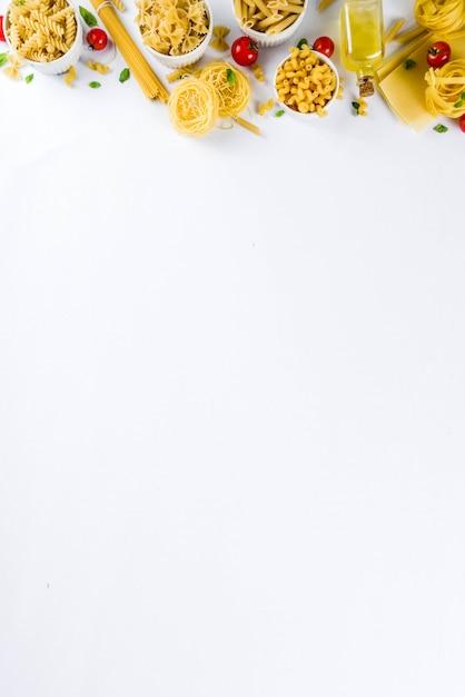 Asortyment włoskich makaronów Premium Zdjęcia