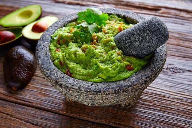 Avocado Guacamole Na Molcajete Real Mexican Premium Zdjęcia