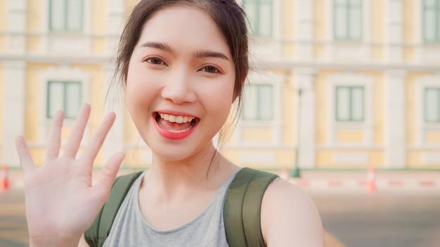 Azjatycka blogger kobiety podróż w bangkok, tajlandia Darmowe Zdjęcia