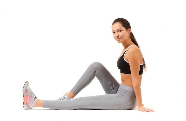 Azjatycka Sprawności Fizycznej Kobieta Premium Zdjęcia