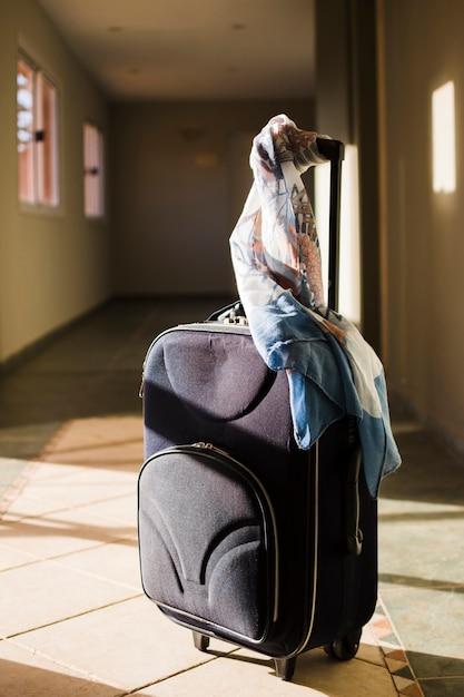 Bagaż Podróżny Z Szalikiem W Słońcu Darmowe Zdjęcia