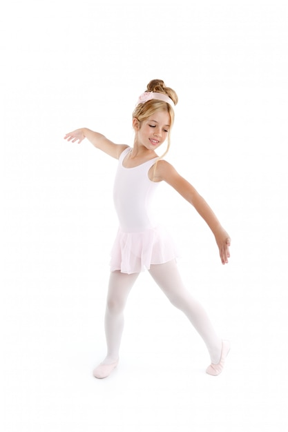 Balerina Dzieci Baletniczy Mały Tancerza Taniec Na Bielu Premium Zdjęcia