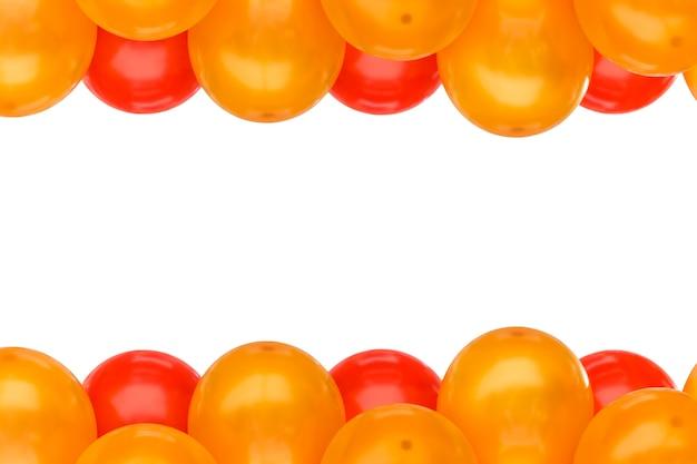 Balon Na Przyjęcie Ramka Na Białym Tle Na Białe Miejsca Na Tekst Premium Zdjęcia
