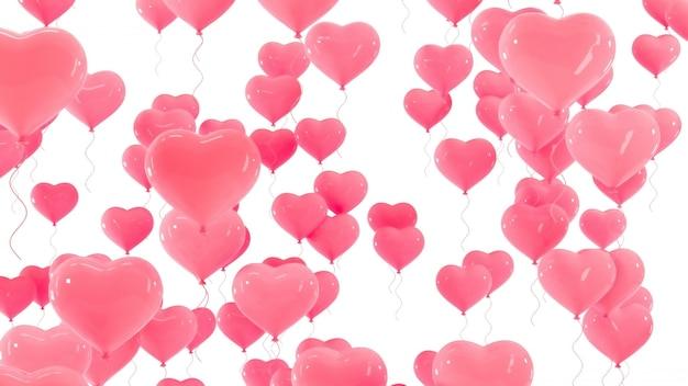 Balony 3d Walentynki. Premium Zdjęcia