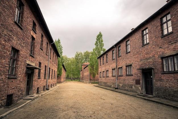 Baraki Dla Więźniów, Obóz Auschwitz Ii, Polska Premium Zdjęcia