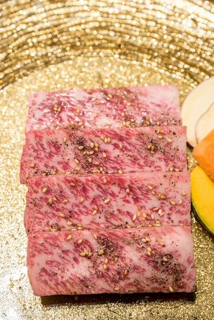 Bbq wagyu mięso z polędwicy Premium Zdjęcia