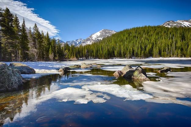 Bear Lake W Rocky Mountain National Park Premium Zdjęcia