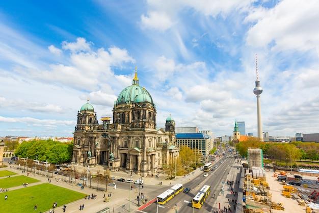 Berliński widok z katedry i wieży telewizyjnej Premium Zdjęcia