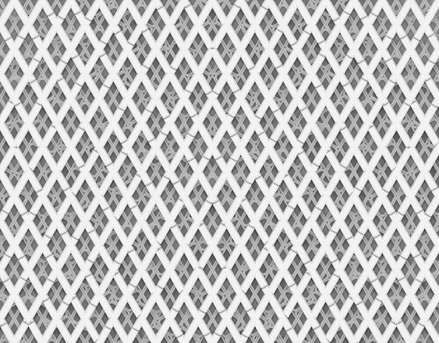 Bez Szwu Abstrakcyjne Białe Paski Nakładki Na Diamenty Wzór Tła ściany. Premium Zdjęcia