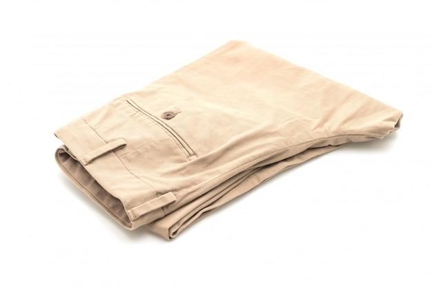 Beżowe Składane Spodnie Premium Zdjęcia