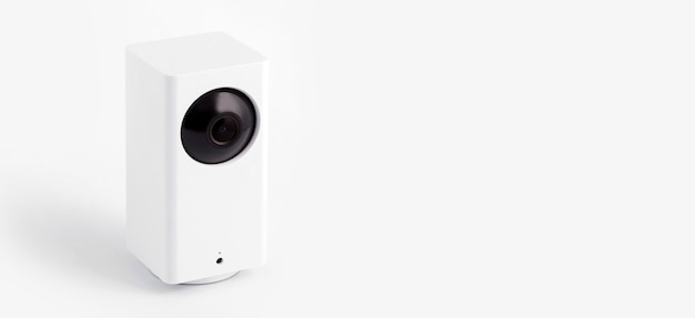 Biała Kamera Cctv Lub Monitoring Premium Zdjęcia