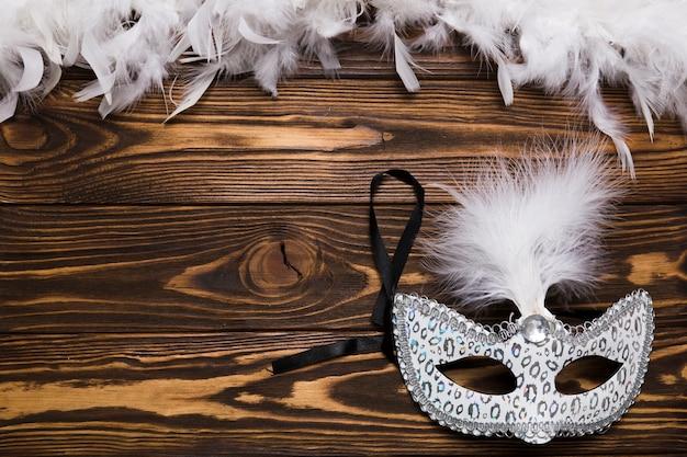 Biała Maska w Pobliżu Piór Darmowe Zdjęcia