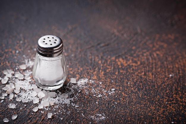 Biała Morze Sól Na Ośniedziałym Tle Premium Zdjęcia