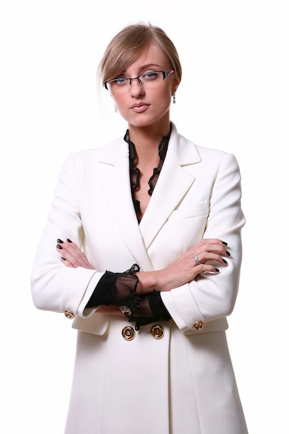 Biała piękna blond biznesowa kobieta Darmowe Zdjęcia
