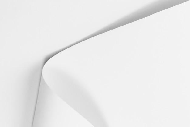 Biała Strona Zwinięte Tekstury Papieru Premium Zdjęcia
