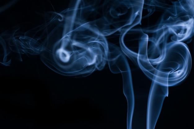 Białe Dymu Kolekcji Na Czarnym Tle Darmowe Zdjęcia