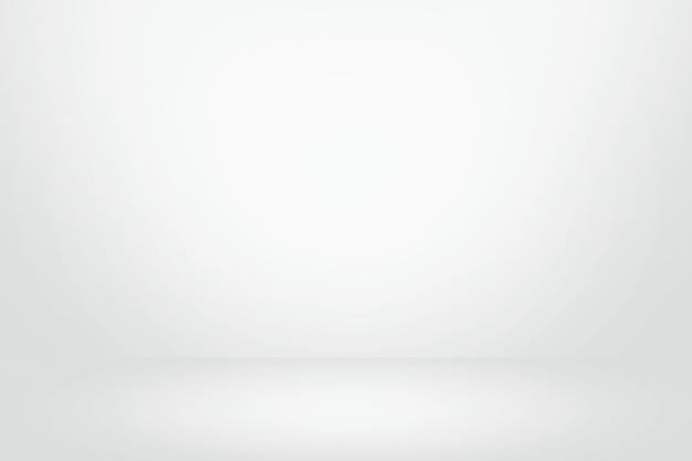 Białe i szare ściany gradientowe banner, puste studio pokój i wnętrze dla obecnego produktu Premium Zdjęcia
