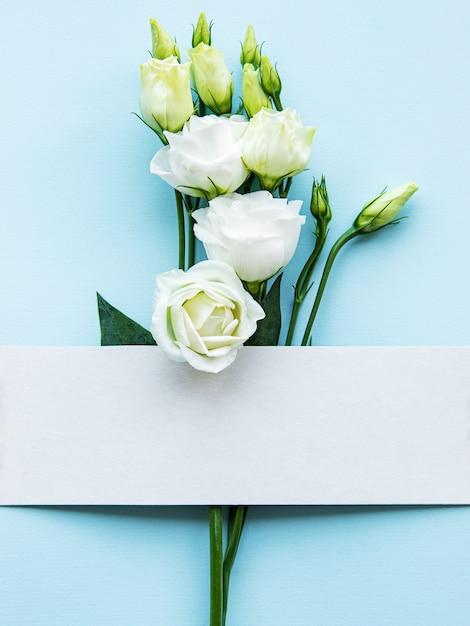 Białe kwiaty eustoma Premium Zdjęcia