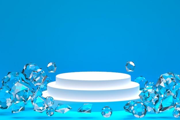 Białe Podium Minimalne Streszczenie Tło Do Prezentacji Produktu Kosmetycznego Lub Ekspozycyjnego Premium Zdjęcia