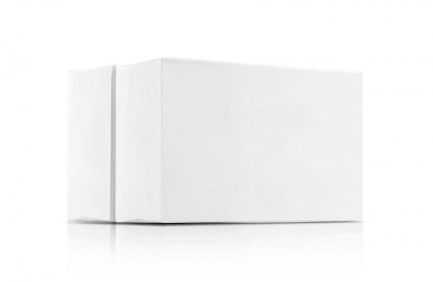 Białe pudełka papierowe Premium Zdjęcia