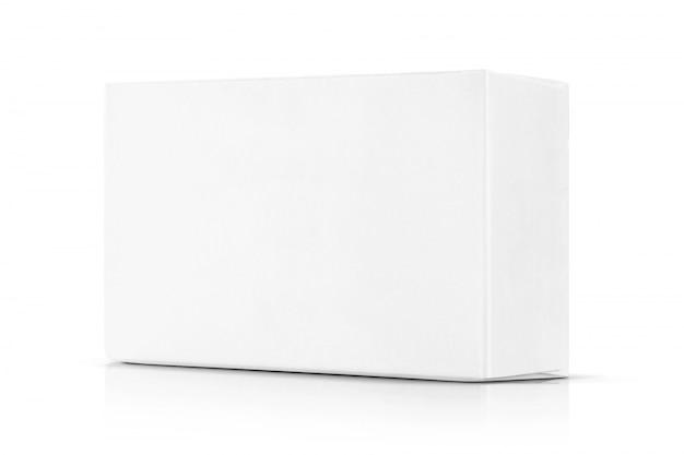 Białe Pudełko Z Papieru Do Projektowania Produktów. Premium Zdjęcia