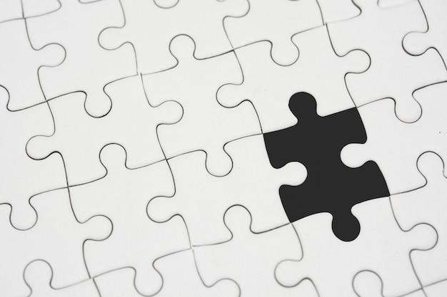 Białe Puzzle Bez Kawałka Premium Zdjęcia