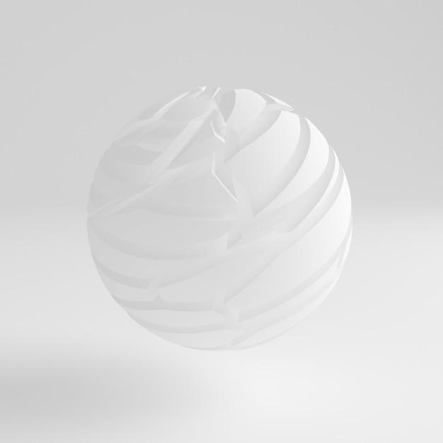 Białe Tło. Ilustracja, Renderowanie 3d. Premium Zdjęcia