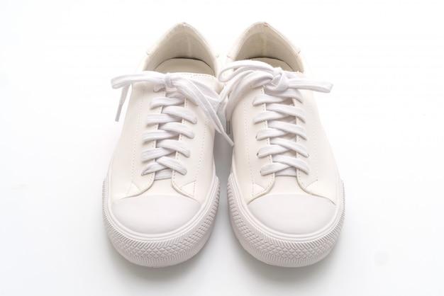 Białe trampki na białym Premium Zdjęcia