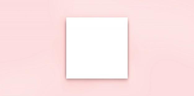 Białego Paparycznego Pustego Broszurka Egzaminu Próbnego Odosobniony Biel Premium Zdjęcia