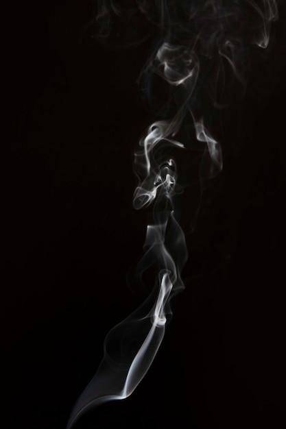 Biały Dym Wirować Wzór Na Czarnym Tle Darmowe Zdjęcia
