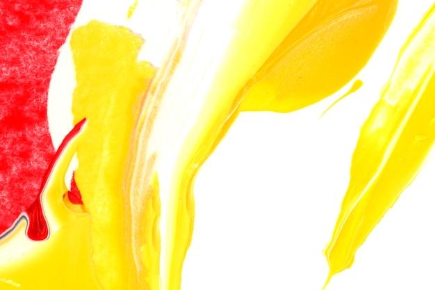 Biały I żółty Akrylowy Farby Tekstury Tło Darmowe Zdjęcia