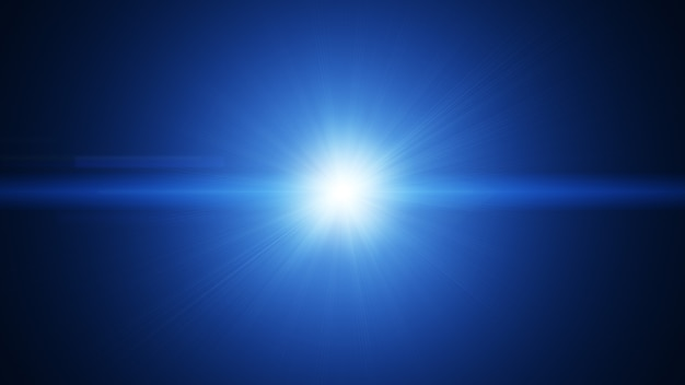 Biały Niebieski Pochodni Efekt Wybuchu Wiązki światła Streszczenie Tło. Premium Zdjęcia