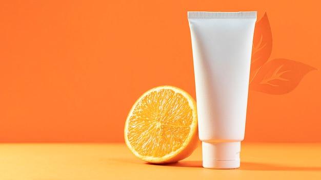 Biały Pojemnik Kosmetyczny Z Pomarańczą Darmowe Zdjęcia