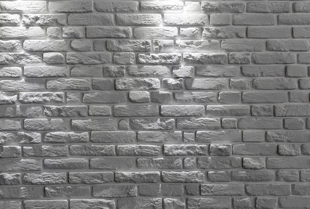 Biały ściana z cegieł tło lub tekstura. Premium Zdjęcia