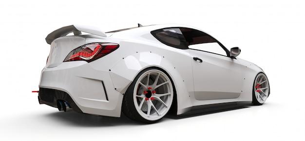 Biały Sportowy Samochód Coupe Premium Zdjęcia