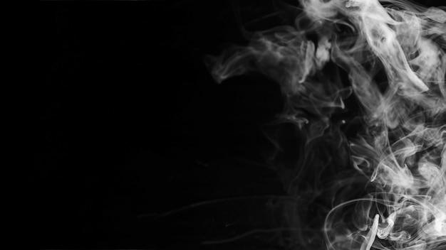 Biały Teksturowane Delikatny Dym Na Czarnym Tle Darmowe Zdjęcia