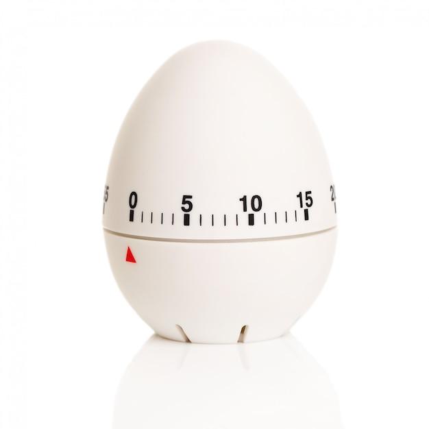 Biały zegar w kształcie jajka Darmowe Zdjęcia