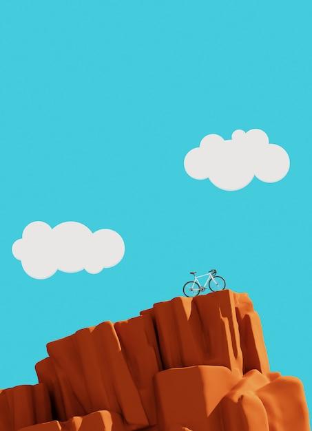 Bicykl Na Górze, Zwycięzcy Pojęcie Premium Zdjęcia