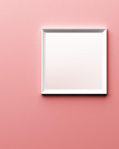 Biel Rama Na Różowym Rzemiennym Tekstury 3d Renderingu Premium Zdjęcia